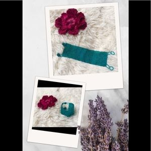 African Turquoise Hand stitched Bracelet